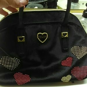 Betsey Johnson Stud Heart Purse NWOT